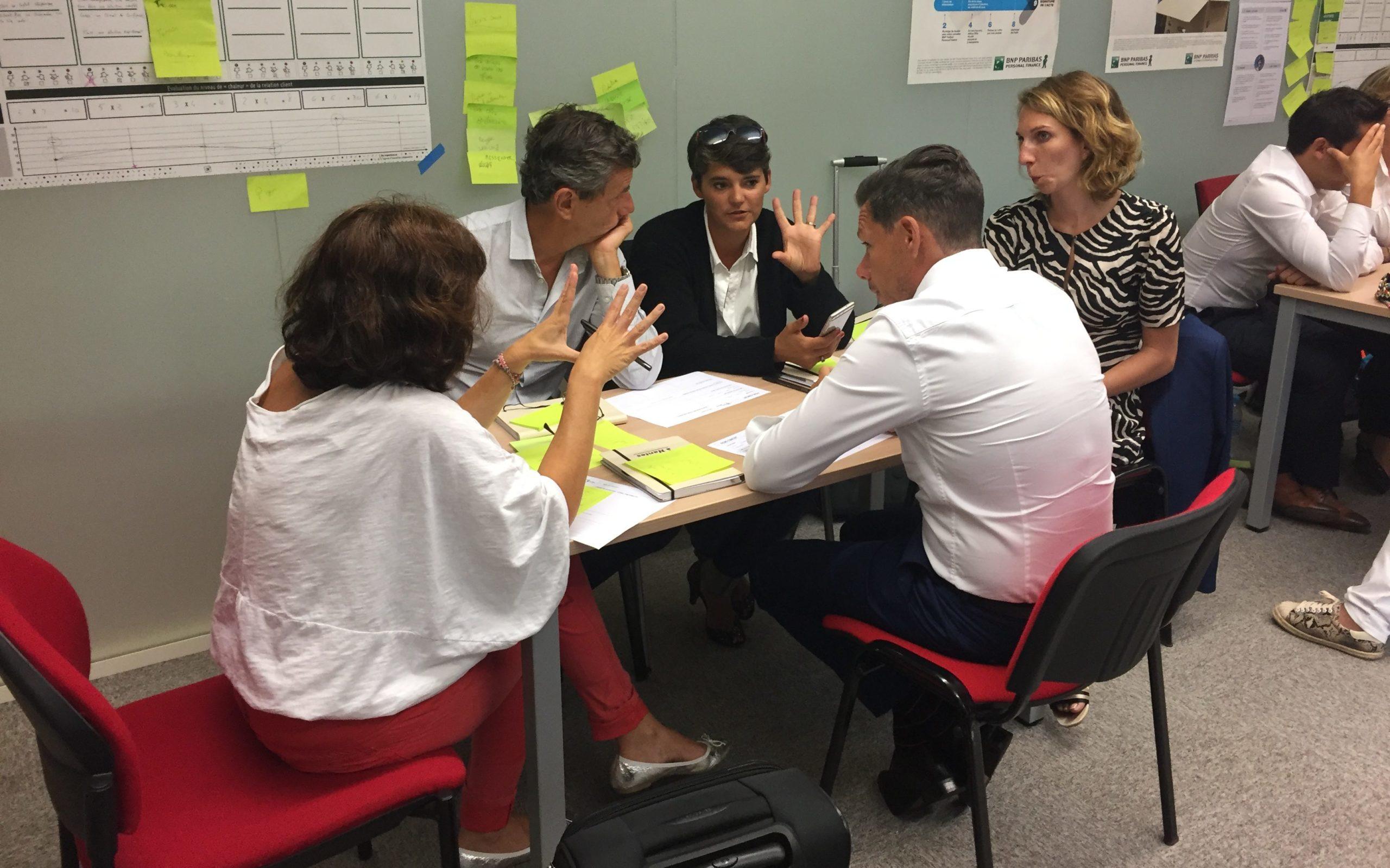 Formation Design thinking, repenser son parcours client avec BNP Paribas